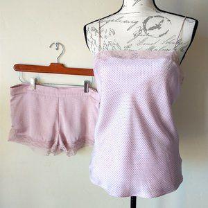 Calvin Klein 2Pc Satin Lace Sleepwear Top+Shorts